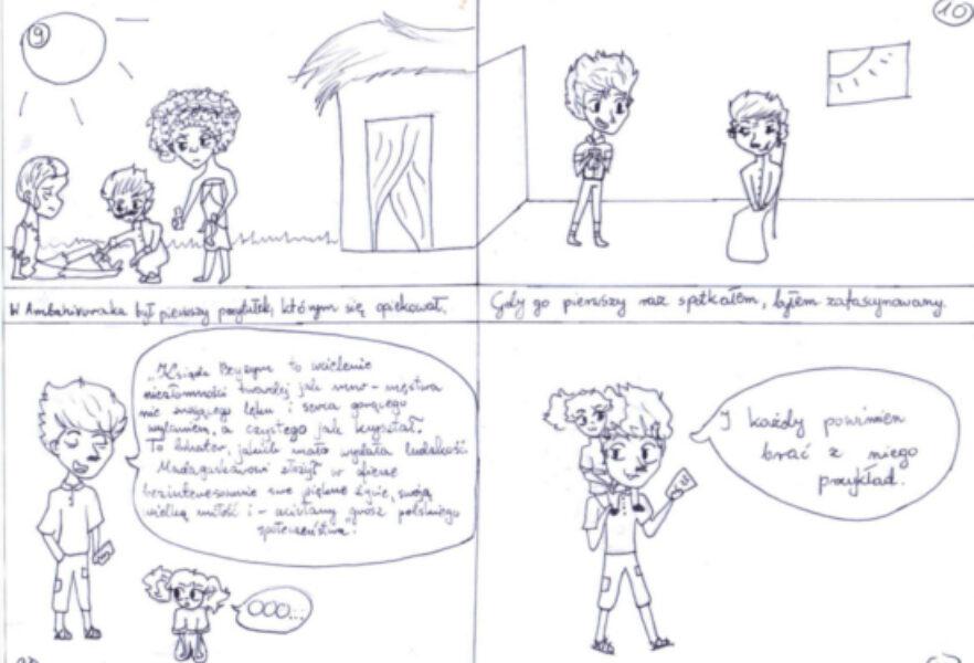 Sp Krzyszkowice – komiks Beyzym – E. Kicek i K. Kozubek03