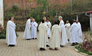 Podczas uroczyśtosci 100.lecia śmierci Beyzyma w Marananie - przed Msza św.