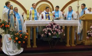 Msza św. pod przew. bpa Leona Dubrawskiego, Greczany