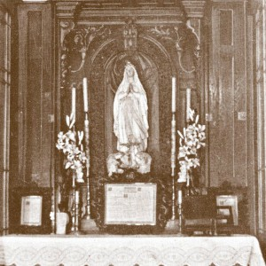Ołtarz w infirmerii w kaplicy w Chyrowie wykonany przez Ojca Beyzyma