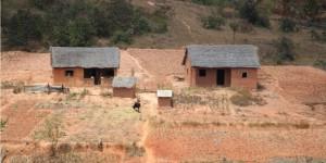 Zabudowania mieszkalne - fragment wioski